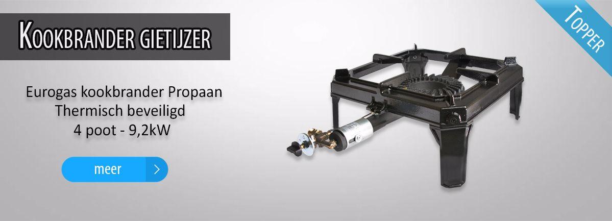 Eurogas kookbrander Propaan Thermisch beveiligd 4 poot - 9,2 kW