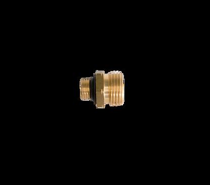 Picture of Gasfles verloopnippelset bestaande uit 4 verloopnippels van KOMBI/KOMBI/DIN/UNIVERSEEL naar ….........