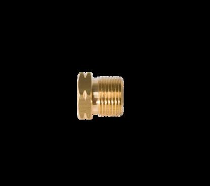 Picture of Wartel POL/BENEGAS/CGA510 - messing- zeskant sw 25mm
