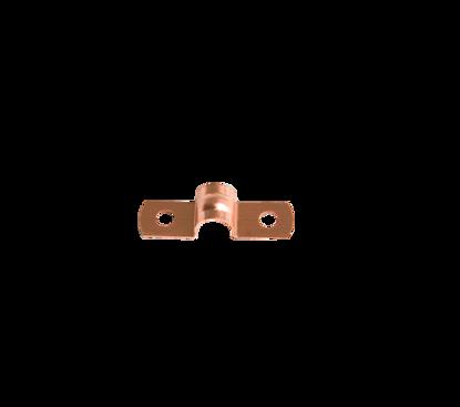 Afbeeldingen van Pijpzadel 8mm roodkoper