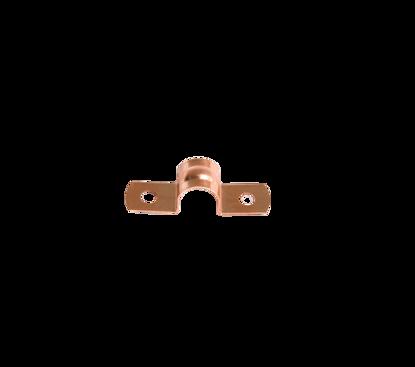 Afbeeldingen van Pijpzadel 10mm roodkoper