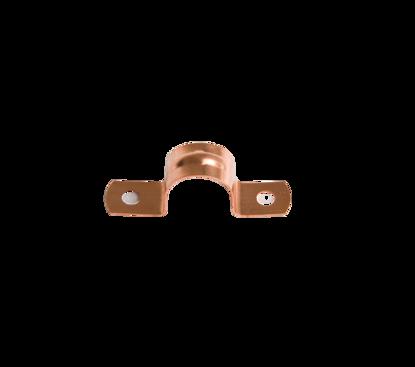 Afbeeldingen van Pijpzadel 15mm roodkoper
