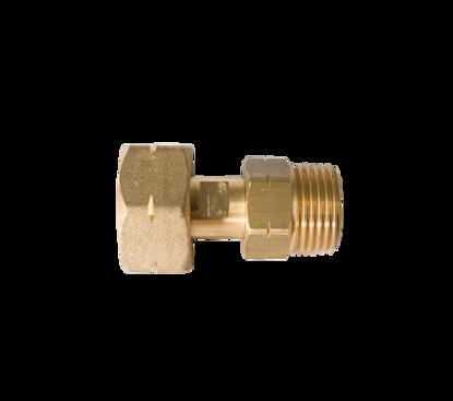 Picture of Verleng fleskoppeling KOMBI/DIN 21,8 inw. x 21,8 uitw. - l= 35mm