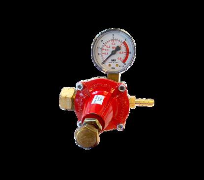 Afbeeldingen van Drukregelaar instelbaar 0-4 bar en manometer- KOMBI/DIN