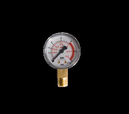 """Afbeeldingen van Manometer diameter 50mm x 1/4"""" r uitw.  0- 6 bar"""