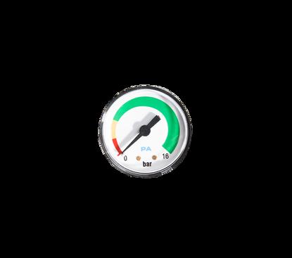 """Afbeeldingen van Manometer horizontaal 1/8"""" r uitw.  rood/geel/groen"""