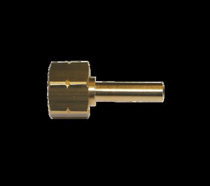 "Picture of Wartel 1/4"" l met klemslangtule  8mm glad"