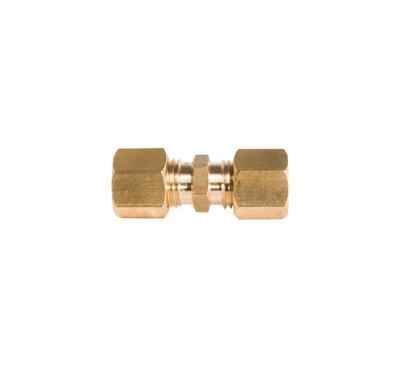 Picture of Rechte knelkoppeling messing 2 x 8mm