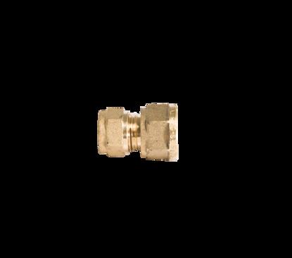 """Afbeeldingen van Rechte koppeling messing 12mm knel x 3/8"""" r inw."""
