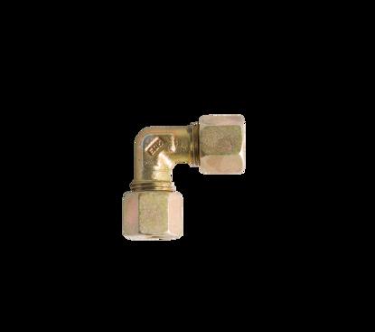 Afbeeldingen van Knie knel koppeling messing 2 x 10mm