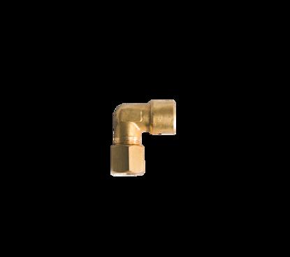 """Afbeeldingen van Knie koppeling messing 8mm x 1/4"""" r inw."""