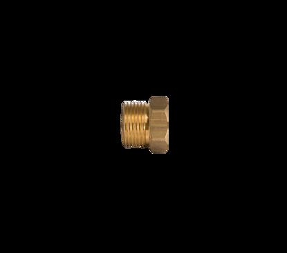 """Afbeeldingen van Verloopnippel M20x1.5 uitw. x 1/8""""r inw."""