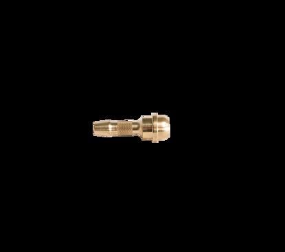"""Afbeeldingen van Slangtule 6mm voor wartel 3/8"""" kort model messing"""