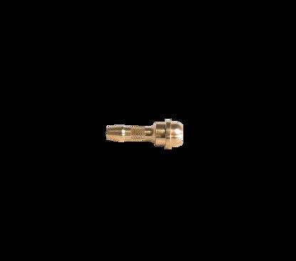 """Afbeeldingen van Slangtule 8mm voor wartel 3/8"""" kort model messing"""