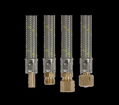 Afbeeldingen van RVS flex verlengslang 60cm- 2 x 8mm knel