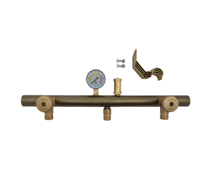 Picture of Manifold voor 3 kranen/manometer /ventiel