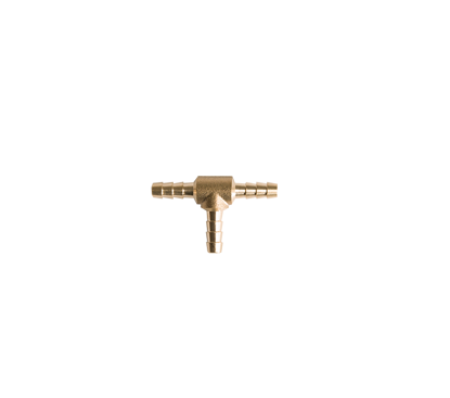 """Picture of T-stuk messing 3 x 6mm (1/4"""")"""