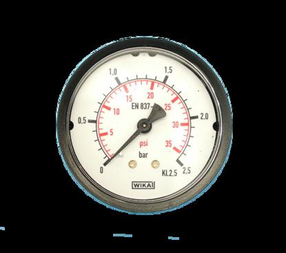 "Picture of Manometer blank 0-2.5 bar 63mm achteraansluiting 1/4"""