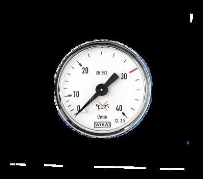 """Picture of Manometer argon 0-40 l/m 40mm achteraansluiting 1/8"""""""