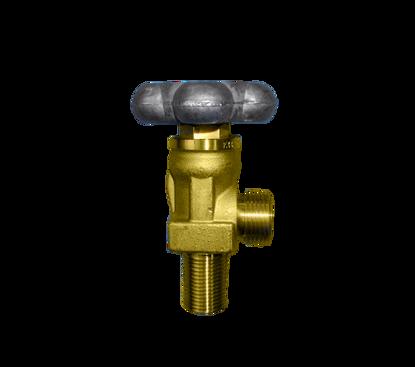Picture of Spindelafsluiter Ru6 = 28,8 r x 21.8 r onderaansluiting, aluminium minium handwiel, K44