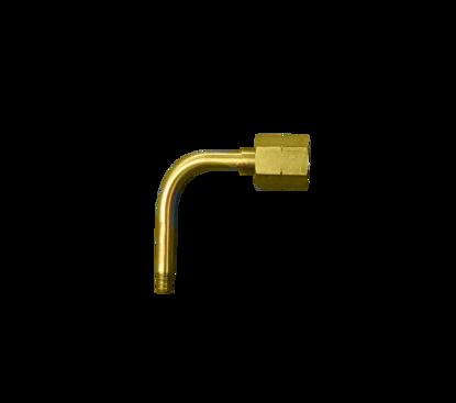 """Picture of Aansluitpen waterstof + wartel gebogen uitvoering 1/4""""r"""